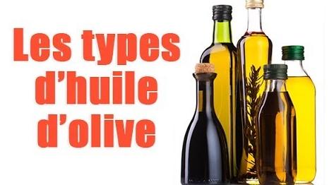 Les différents types d'huile d'olive